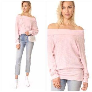 Free People Palisades Thermal Pullover Pink Top